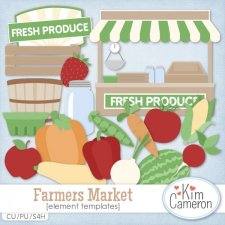 Farmers Market Templates by Kim Cameron