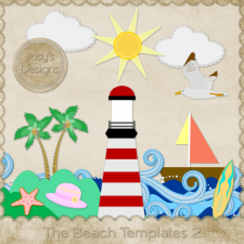 The Beach Layered Templates 2 by Josy