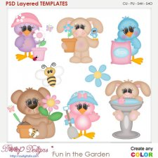 Fun in the Garden Layered Element Templates