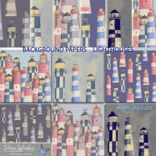EXCLUSIVE Lighthouse Paper Watercolours by Silver Splashes