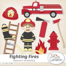 Fighting Fires Templates by Kim Cameron