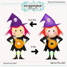 Sabrina The Witch Template - clipart by ScrapingMar