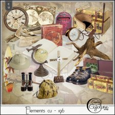 Elements CU - 196 Travel by Cajoline-Scrap