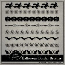 Halloween Border Brushes ABR - PNG by Beckys Creations