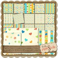 Action Soft Art 4 - Artistic Dots EXCLUSIVE by PapierStudio Silke