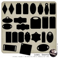 Label Shapes by MoonDesigns