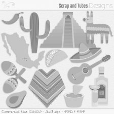 Viva Mexico Templates (CU4CU) by Scrap and Tubes