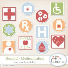 Hospital Medical Labels by Kim Cameron
