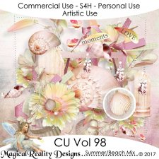 Summer Beach Mix- CU Vol 98 by MagicalReality Designs