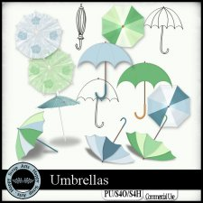 Umbrellas elements by Happy Scrap Art