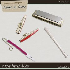 Band Music - Kid Mouth - EXCLUSIVE Designs by Ohana
