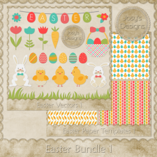 Easter Vector Templates Bundle by Josy