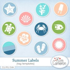 Summer Labels Templates by Kim Cameron