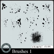 Brushes 1 CU4CU by Happy Scrap Arts