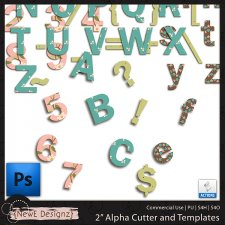 "EXCLUSIVE PS 2"" Alpha Cutter and Templates by NewE Designz"
