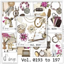 Vol. 0193 to 0197 Vintage Mix by Doudou Design