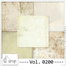 Vol. 0200 Vintage Papers by Doudou's Design