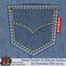Jeans Pocket Action by Karen Stimson