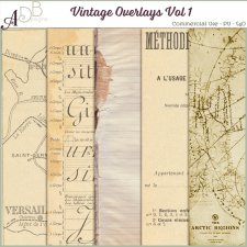 Vintage Overlays Vol 01 by ADB Designs