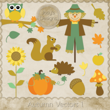 Autumn Layered Vector Templates 1 by Josy