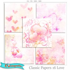 Classic Papers 16 Love by Kastagnette