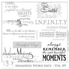 Memories Word Arts Vol 09 by D's Design