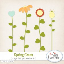 Spring Green Templates by Kim Cameron