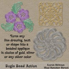 Bugle Bead Action by Karen Stimson