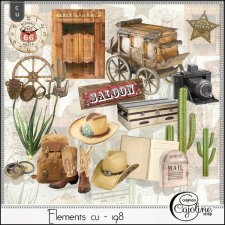 Elements CU - 198 Western Travel by Cajoline-Scrap