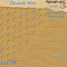 Chicken Wire Templates by Mandog Scraps