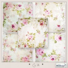 CU set 14 Floral Papers by MLDesigns