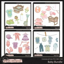 EXCLUSIVE Layered Baby Templates BUNDLE by NewE Designz