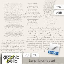 Script brushes set by Graphia Bella