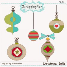 Christmas Balls Layered Templates by ScrapingMar