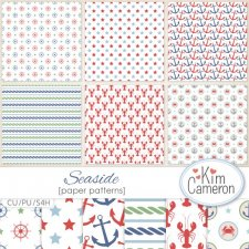 Seaside Pattern Template by Kim Cameron