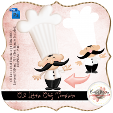 Little Chef Layered Template by Peek a Boo Designs