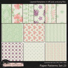 EXCLUSIVE Layered Paper Patterns Templates Set 23 by NewE Designz