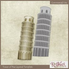 Tower of Pisa Layered Template EXCLUSIVE by Kristmess
