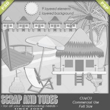 Tropical Island Templates CU4CU by Scrap and Tubes