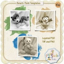 Bend and Paint L- Templates w-tutorial EXCLUSIVE by PapierStudio Silke