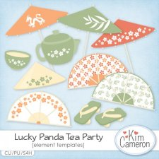 Lucky Panda Tea Party Templates by Kim Cameron