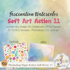 Action Soft Art 11 - Fascination Watercolor EXCLUSIVE by Papierstudio Silke