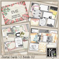 Journal Card Templates 1-3 Bundle by Kathryn Estry