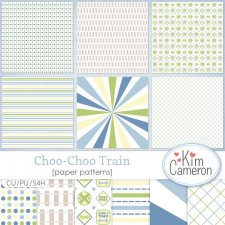 Choo-Choo Train Patterns by Kim Cameron