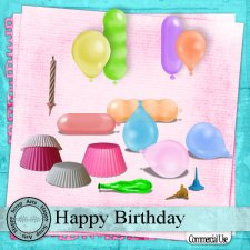 Happy Birthday elements by Happy Scrap Art