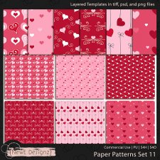 EXCLUSIVE Layered Paper Patterns Templates Set 11 by NewE Designz