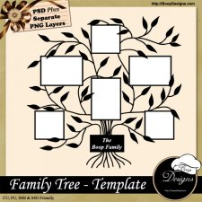 Family Photo Tree TEMPLATE by Boop Designs