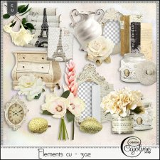 Elements CU - 302 Vintage inspiration by Cajoline-Scrap