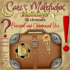 Maletuchas Set 3 - Holidays by Cari Lopez