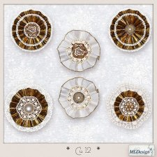 CU set 12 Christmas Rosettes by MLDesigns